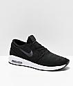 Nike SB Janoski Air Max 2 Black & White Skate Shoes