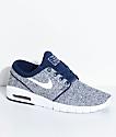 Nike SB Janoski Air Max Binary zapatos de skate en azul y blanco
