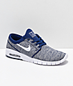Nike SB Janoski Air Max Blue Void & White Skate Shoes
