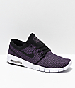 Nike SB Janoski Air Max Purple & White Skate Shoes
