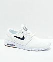 Nike SB Janoski Air Max Quilted Summit White & Thunder Blue zapatos de skate
