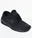 Nike SB Janoski Air Max zapatos de skate en negro para niños