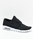Nike SB Janoski Air Max zapatos de skate negros y blancos
