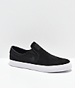 Nike SB Janoski Black, White, Suede & Canvas Slip-On Skate Shoes