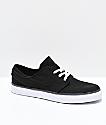 Nike SB Janoski Black & White Skate Shoes