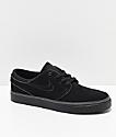 Nike SB Janoski Black Suede Skate Shoes
