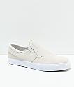 Nike SB Janoski Bone Slip-On zapatos de skate en blanco