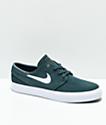Nike SB Janoski Deep Jungle & White Skate Shoes