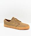 Nike SB Janoski Golden Beige & Gum Canvas Skate Shoes