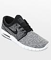 Nike SB Janoski Max White, Black & Dark Grey Skate Shoes