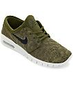 Nike SB Janoski Max zapatos de skate en blanco y verde