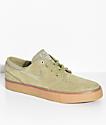 Nike SB Janoski Olive & Gum Suede Skate Shoes