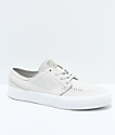 Nike SB Janoski Premium High Tape Deconstructed Light Bone & White Skate Shoes