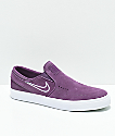 Nike SB Janoski Purple & White Slip-On Skate Shoes