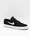 Nike SB Janoski RM zapatos de skate de ante negro y blanco