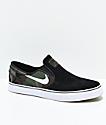 Nike SB Janoski Slip-On zapatos de skate en negro y camuflaje