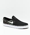 Nike SB Janoski Slip-On zapatos de skate para niños en negro y camuflaje