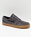 Nike SB Janoski Suede Thunder Grey & Gum Skate Shoes