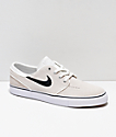 Nike SB Janoski Summit White & Black Suede Skate Shoes