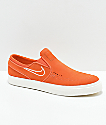 Nike SB Janoski Vintage Coral & White Slip-On Skate Shoes