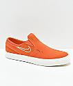 Nike SB Janoski Vintage Slip-On zapatos de skate de ante naranja