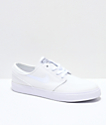 Nike SB Janoski White Canvas Skate Shoes
