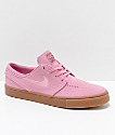 Nike SB Janoski zapatos de skate de ante en rosa y goma