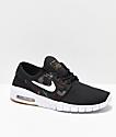 Nike SB Kids Janoski Max Black & Camo Skate Shoes