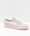 Nike SB Kids Janoski Vast Grey & Pink Skate Shoes