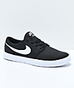 Nike SB Kids Portmore II Ultralight Black & White Skate Shoes