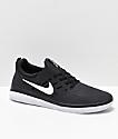 Nike SB Nyjah Free zapatos de skate en negro y blanco