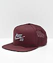 Nike SB Performance Burgundy & Grey Trucker Hat