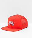 Nike SB Performance gorra roja y gris