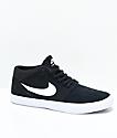 Nike SB Portmore II Mid zapatos de skate negros y blancos