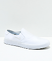 Nike SB Portmore II White Canvas Slip-On Skate Shoes
