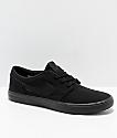 Nike SB Portmore II zapatos de skate de lienzo negro