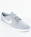 Nike SB Portmore II zapatos de skate en gris y blanco