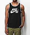 Nike SB Ringer Black & White Tank Top