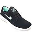 Nike SB Stefan Janoski Air Max Black & Green Glow Skate Shoes