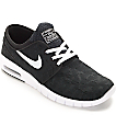 Nike SB Stefan Janoski Air Max Black & White Skate Shoes