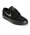 Nike SB Stefan Janoski Black & Anthracite Boys Skate Shoes