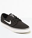 Nike SB Stefan Janoski Black Canvas Kids Skate Shoes