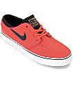 Nike SB Stephan Janoski Ember Glow & White Boys Skate Shoes