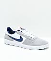 Nike SB Team Classic Wolf Grey & White Skate Shoes