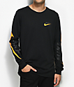 Nike SB Tonal Futura camiseta de manga larga en negro y color naranja
