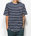 Nike SB camiseta de rayas azules y blancas