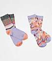 Ninth Hall 2 Pack Anti-Socialite Lavender Camo Crew Socks