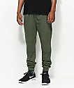 Ninth Hall Brute Olive Moto Knit Jogger Pants