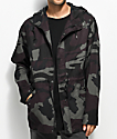 Ninth Hall Creatures Black & Plum Camo Twill Jacket