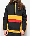 Ninth Hall Enduro chaqueta anorak negra, roja y amarilla